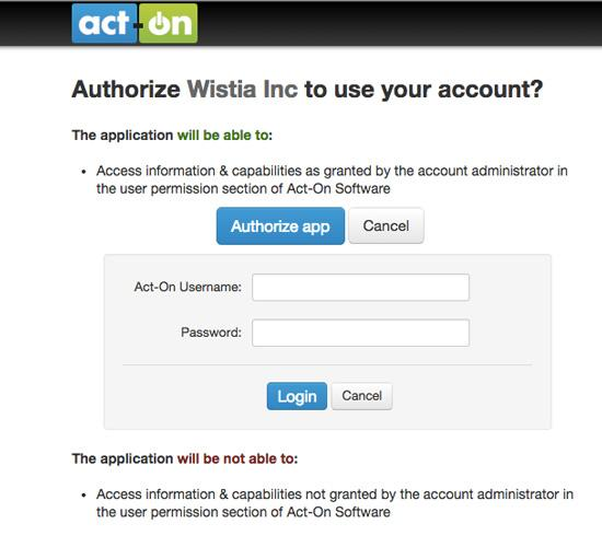 Integrating Wistia Content Video with Act-On     | W-Systems